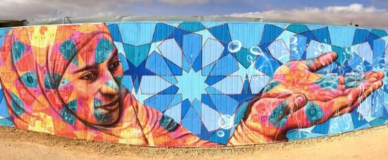 Mural of Syrian Woman