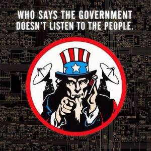 The government listens