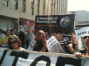 Protesting NATO in the streets of Chicago, May 2012