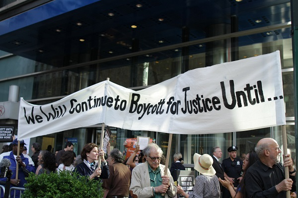 We will continue to boycott for justice