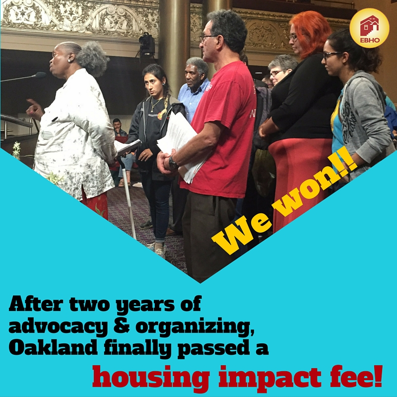 We won! EBHO wins housing impact fee in Oakland