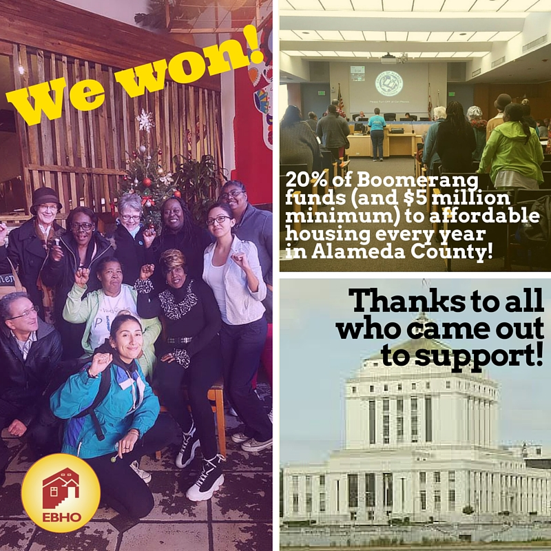 We won! (More) Boomerang funds in Alameda County