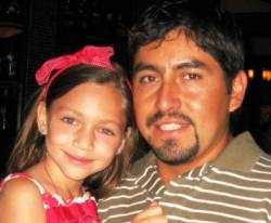 Raul Cardenas and his daughter.
