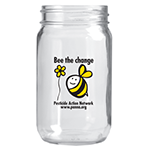 Bee the chnage Mason Jar