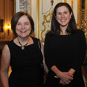 Mary Tracy with Lucinda Robb, granddaughter of President and Lady Bird Johnson