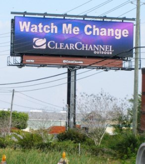 watch me change digital billboard