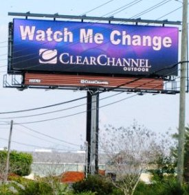 digital billboard watch me change
