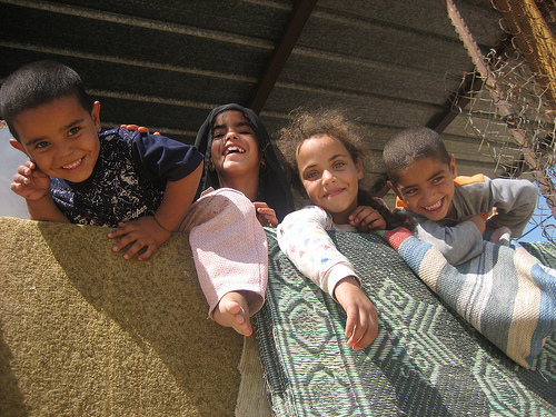 Bedouin children in the Negev