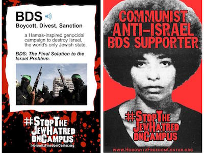 A poster at UCLA called organizers like you and me Jew haters