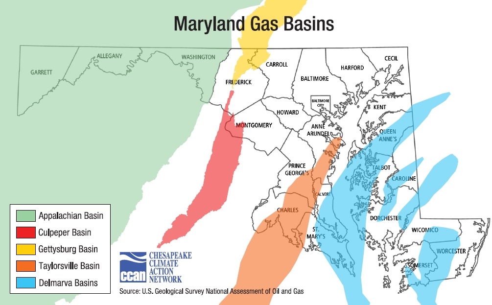 MD Shale Basins Map