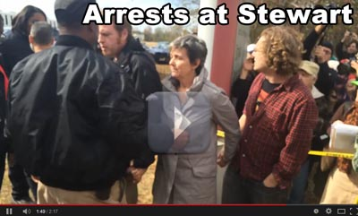 Arrests at the Stewart Detention Center